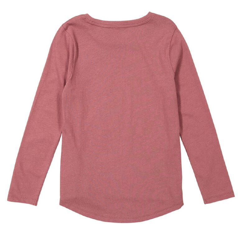 Young Original Brooke Long Sleeve Print Tee, Pink Dark, hi-res