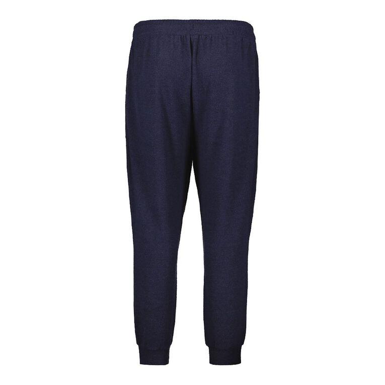 H&H Plus Brushed Knit Harem Pants, Navy, hi-res