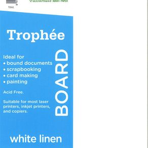 Trophee 240gsm 12 Pack Linen White A4