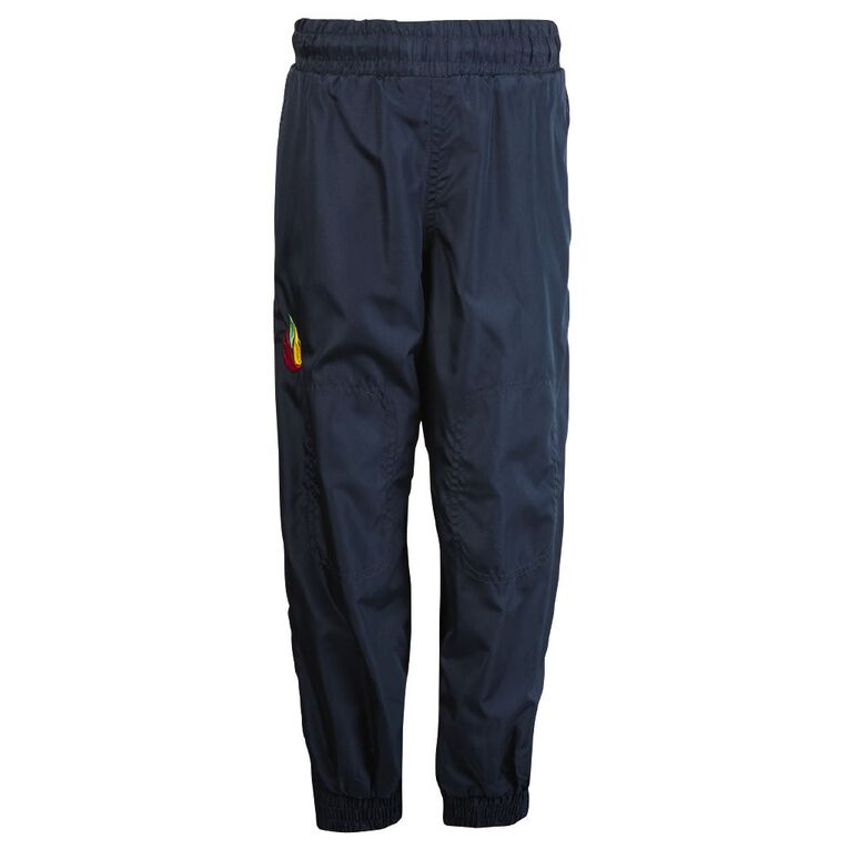 Schooltex Rakaia Cuff Pongee Trackpants with Embroidery, Navy, hi-res