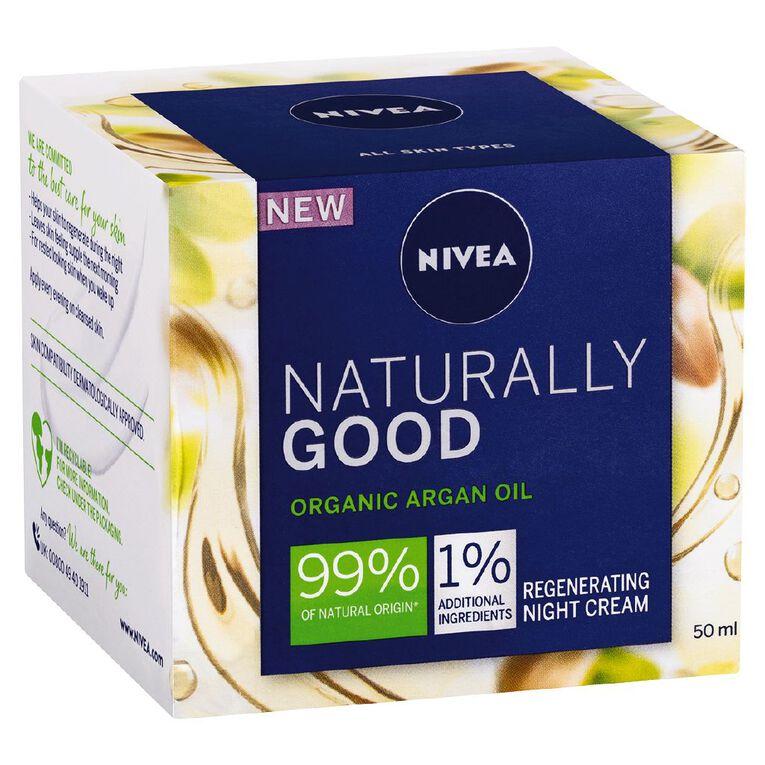 Nivea Naturally Good Regenerating Night Cream 50ml, , hi-res