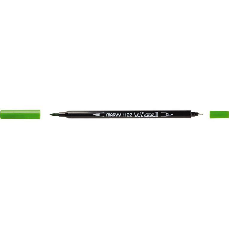 MARVY Le Plume II Dual Tip Marker Leaf Green, , hi-res