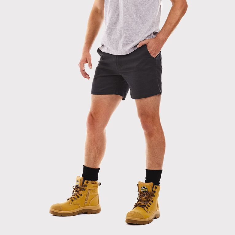 Tradie Flex Contrast Short Length Shorts, Black, hi-res