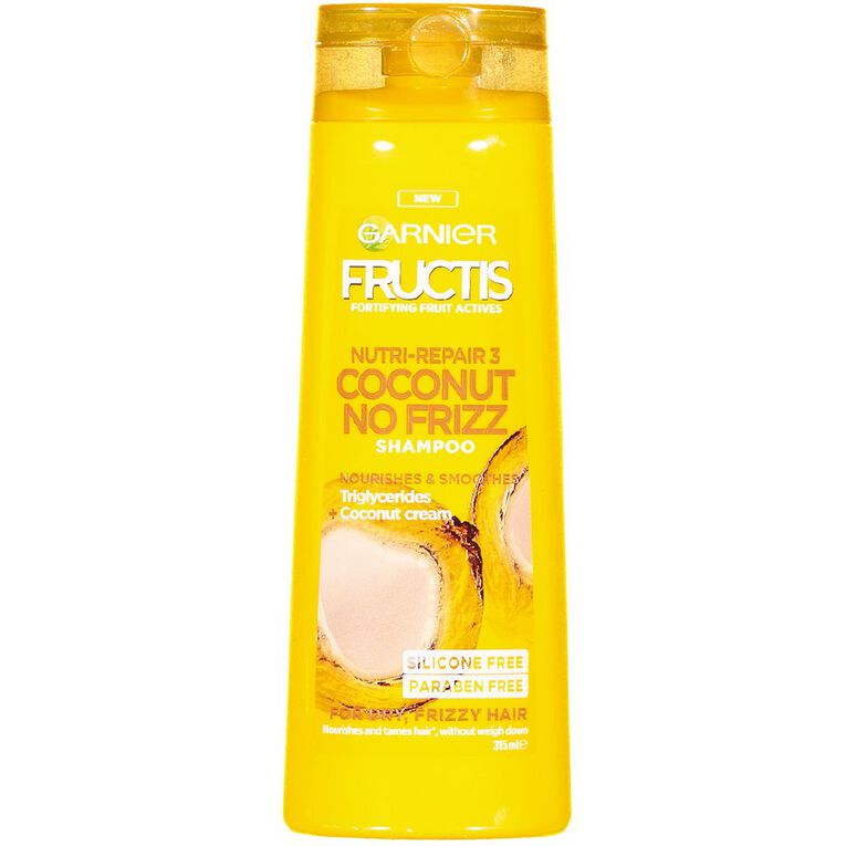 Garnier Fructis Coconut No Frizz Shampoo 315ml, , hi-res