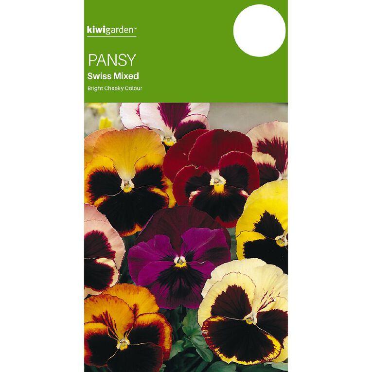 Kiwi Garden Pansy Swiss Mix, , hi-res
