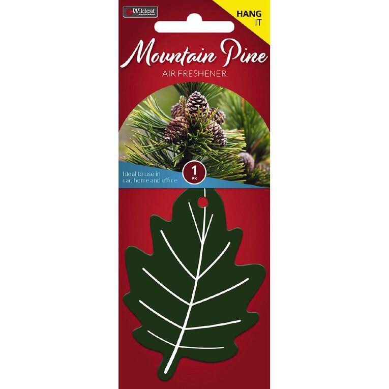 Wildcat Hanging Car Air Freshener Leaf Mountain Pine Scent, , hi-res