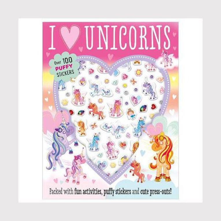 I Love Unicorns Puffy Sticker by Make Believe Ideas, , hi-res