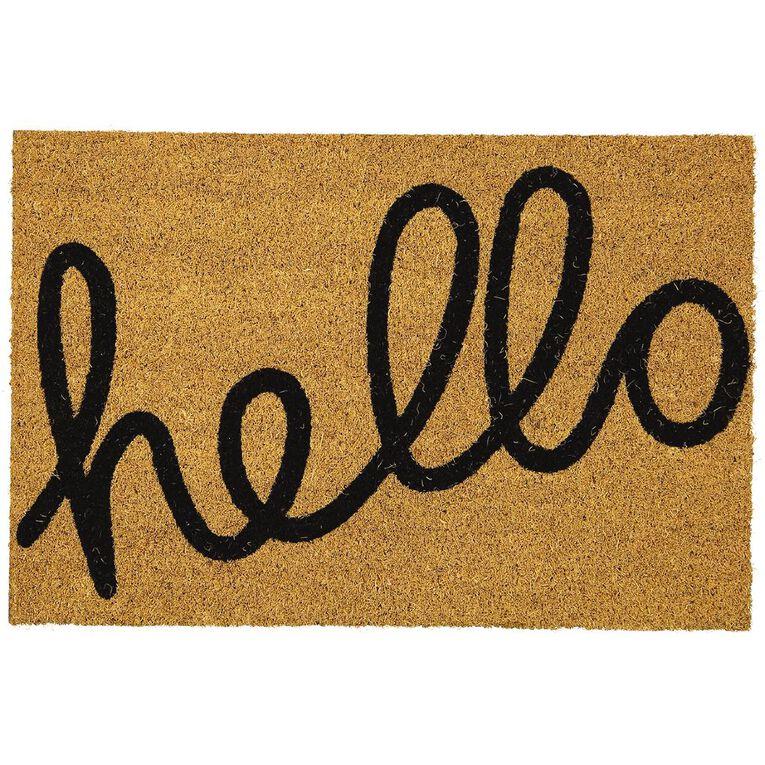 Living & Co Coir Doormat Hello 40cm x 60cm, , hi-res image number null