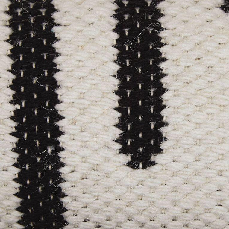 Living & Co Diamond Border Cotton Area Runner White 80cm x 200cm, White, hi-res