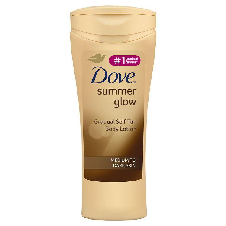 Dove Summer Glow Body Lotion Medium To Dark 400ml, , hi-res
