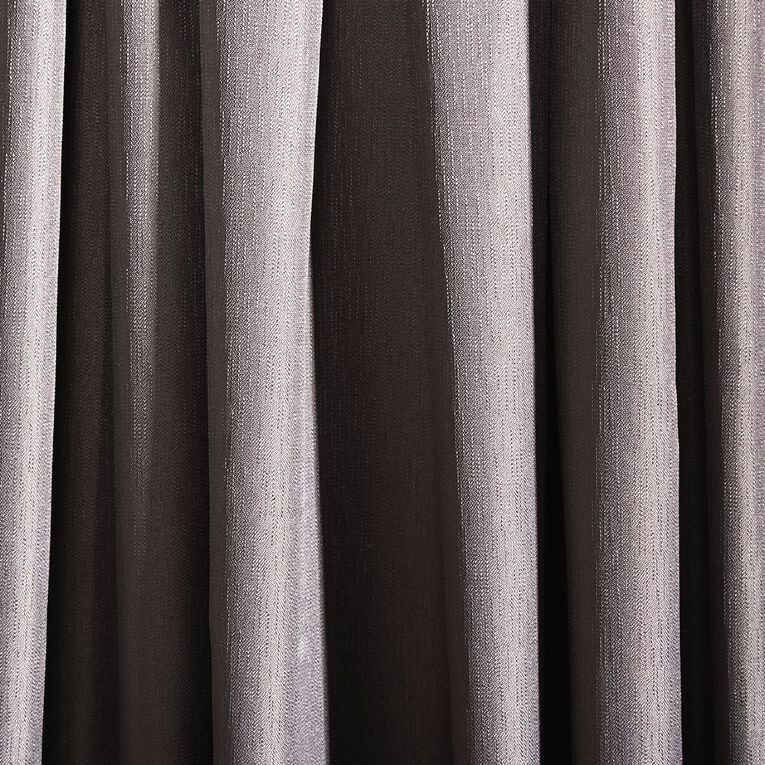 Living & Co Metro Curtains Steel 150-230cm Wide/205cm Drop, Steel, hi-res