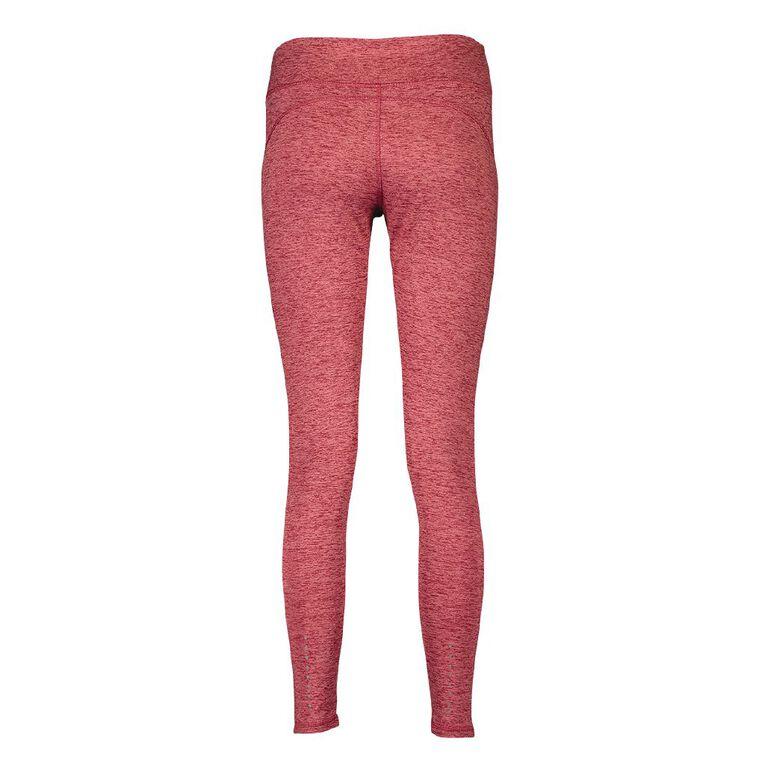Active Intent Women's Cosy Full Length Leggings, Red Dark, hi-res
