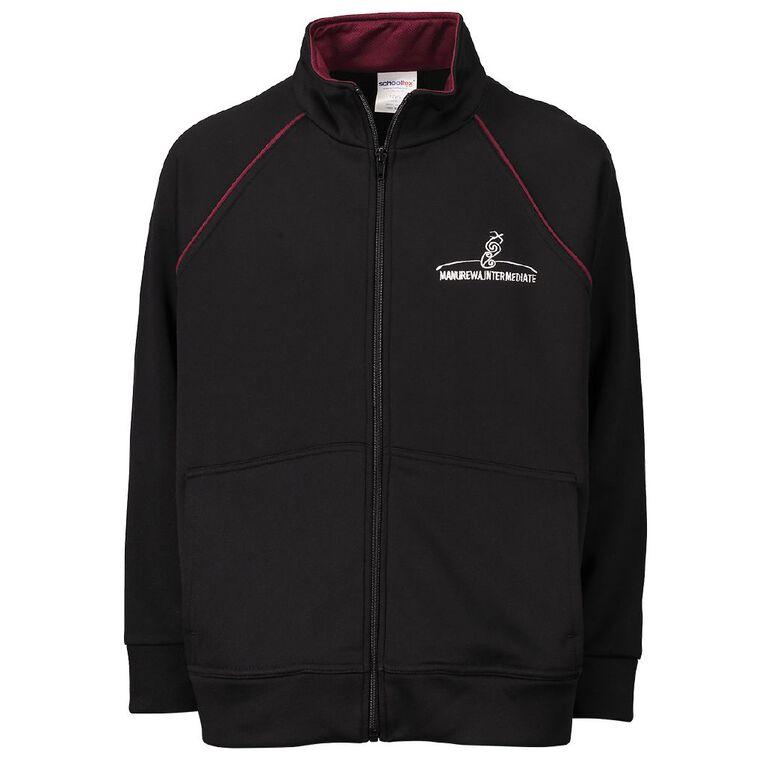 Schooltex Manurewa Intermediate Jacket with Embroidery, Black, hi-res
