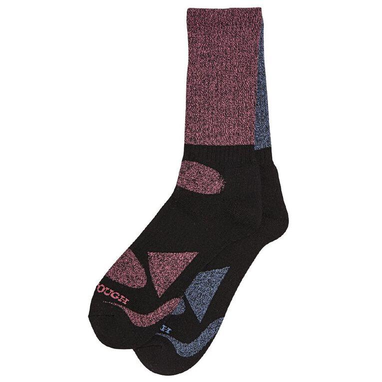 Darn Tough Women's Rib Crew Socks 2 Pack, Blue/Pink, hi-res