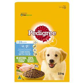 Pedigree Puppy Dry Dog Food Chicken & Rice 2.5kg Bag