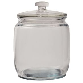 Living & Co Round Glass Jar Clear 2.1L