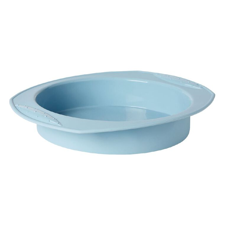 Living & Co Silicone Cake Pan Round Aqua, , hi-res