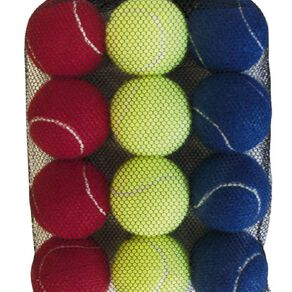 Active Intent Sports Tennis Ball Coloured 12 Pack
