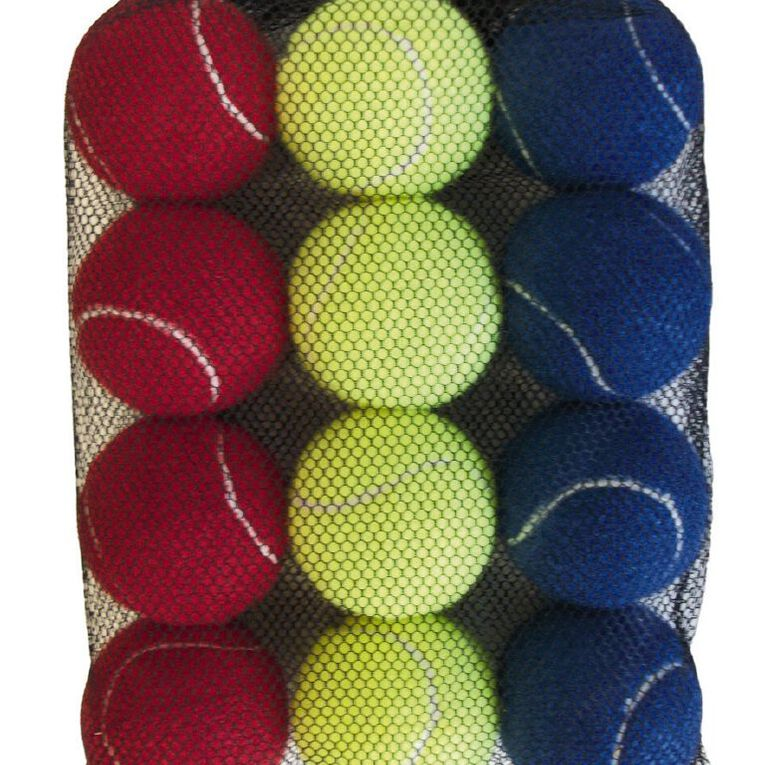 Active Intent Sports Tennis Ball Coloured 12 Pack, , hi-res