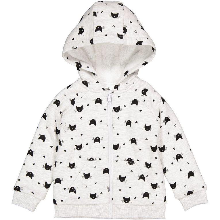 Young Original Toddler Sherpa Lined Sweatshirt, Grey Light, hi-res