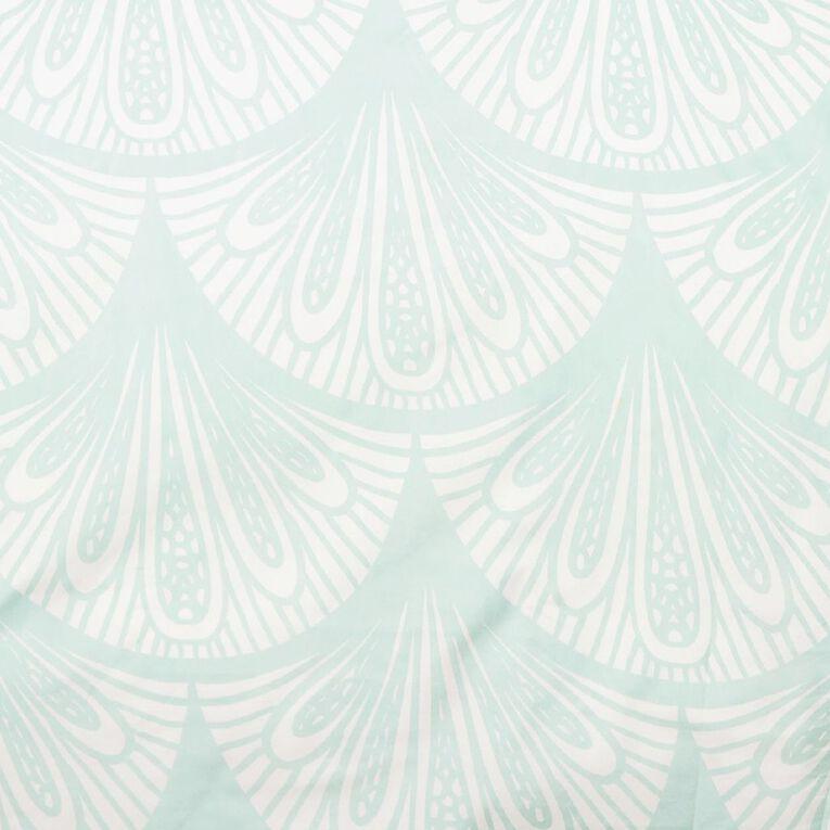 Living & Co Duvet Cover Set Microfibre Miami Green Single, Green, hi-res
