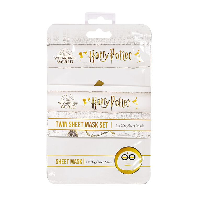 Harry Potter Face Mask Sheet Double 2 Pack, , hi-res image number null