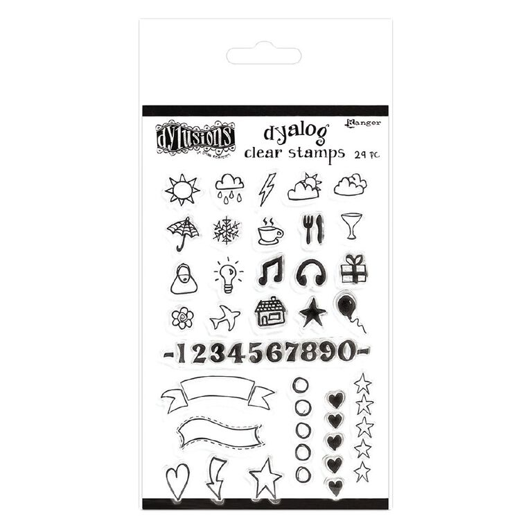 Ranger Dylusions Dyalog Clear Stamps The Full Package, , hi-res