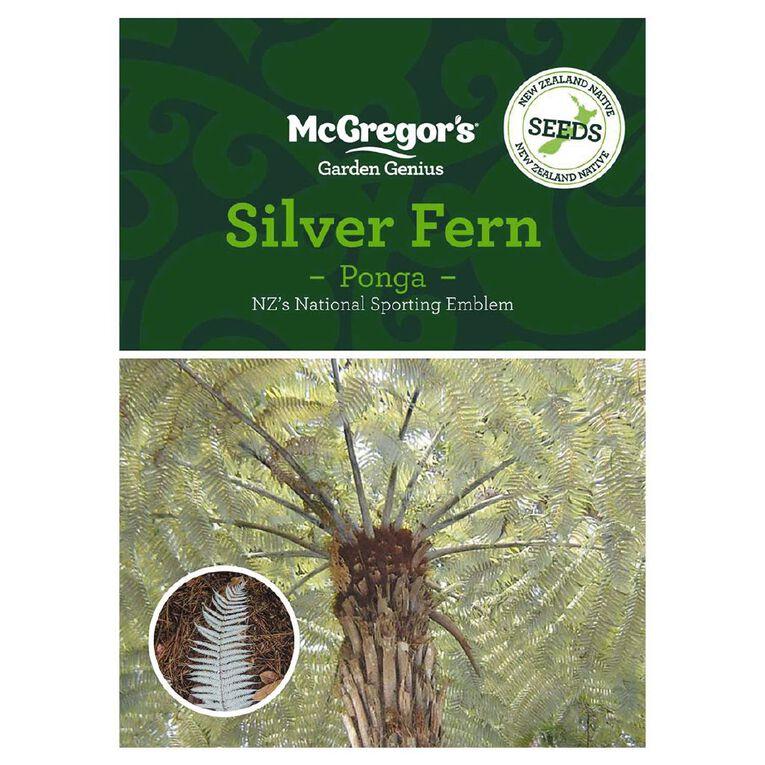 McGregor's Ponga Silver Fern NZ Native Seed, , hi-res