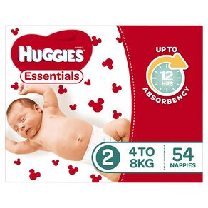 Huggies Essential Nappy Infant 54 pack