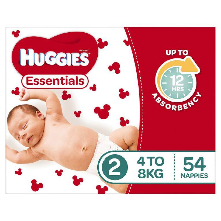 Huggies Essential Nappy Infant 54 pack, , hi-res