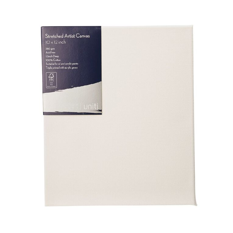 Uniti Platinum Canvas 10x12 Inches 380Gsm, , hi-res