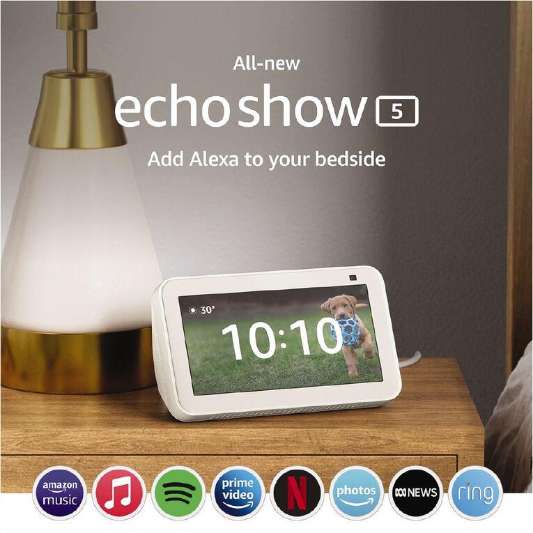 Amazon Echo Show 5 (2nd Gen) White, , hi-res