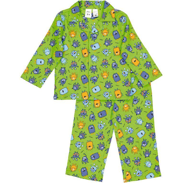H&H Kids' Flannelette Pyjamas, Green, hi-res