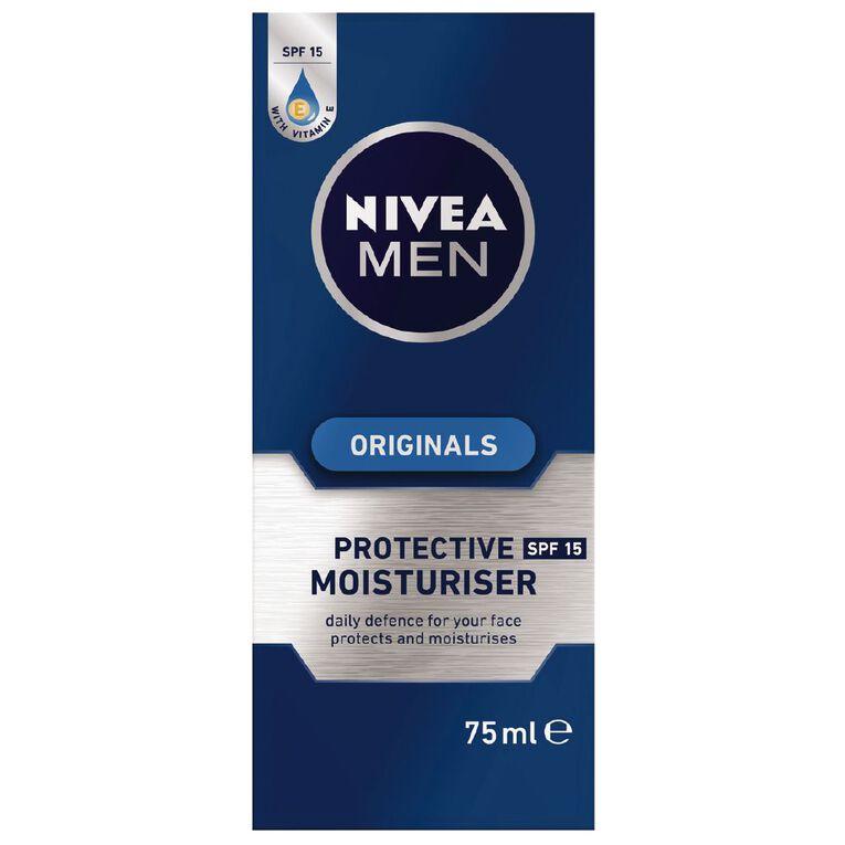 Nivea For Men Protective Moisturiser SPF15 75ml, , hi-res