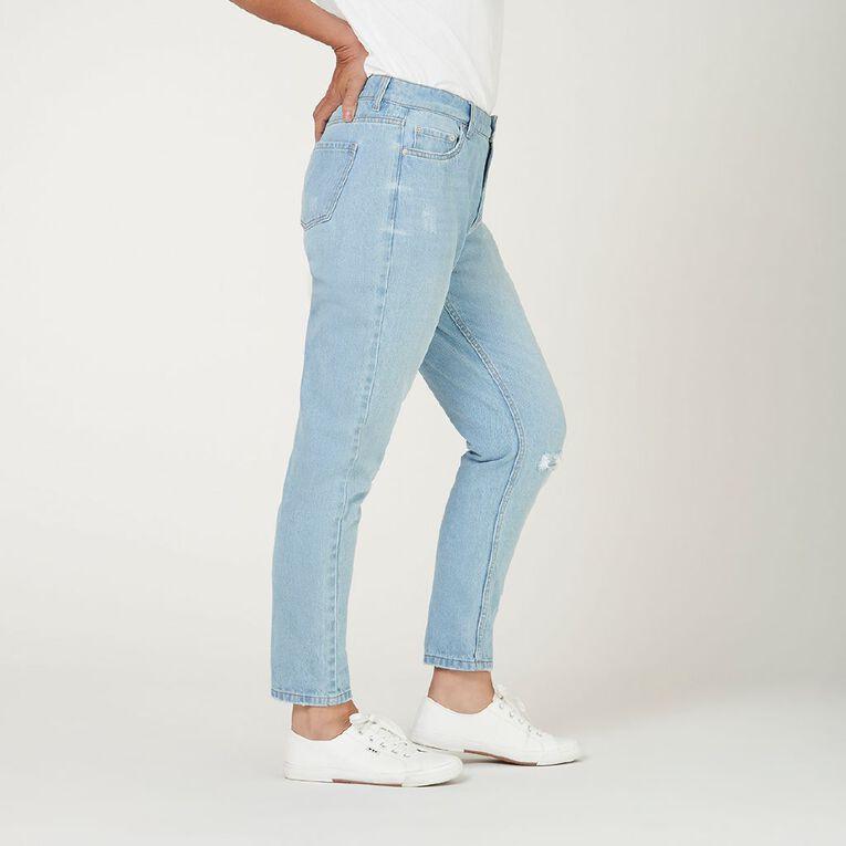 H&H Women's Boyfriend Jeans, Denim Light, hi-res