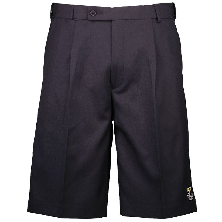 Schooltex Onewhero Area School Polyester Wool Shorts with Embroidery, Ink, hi-res