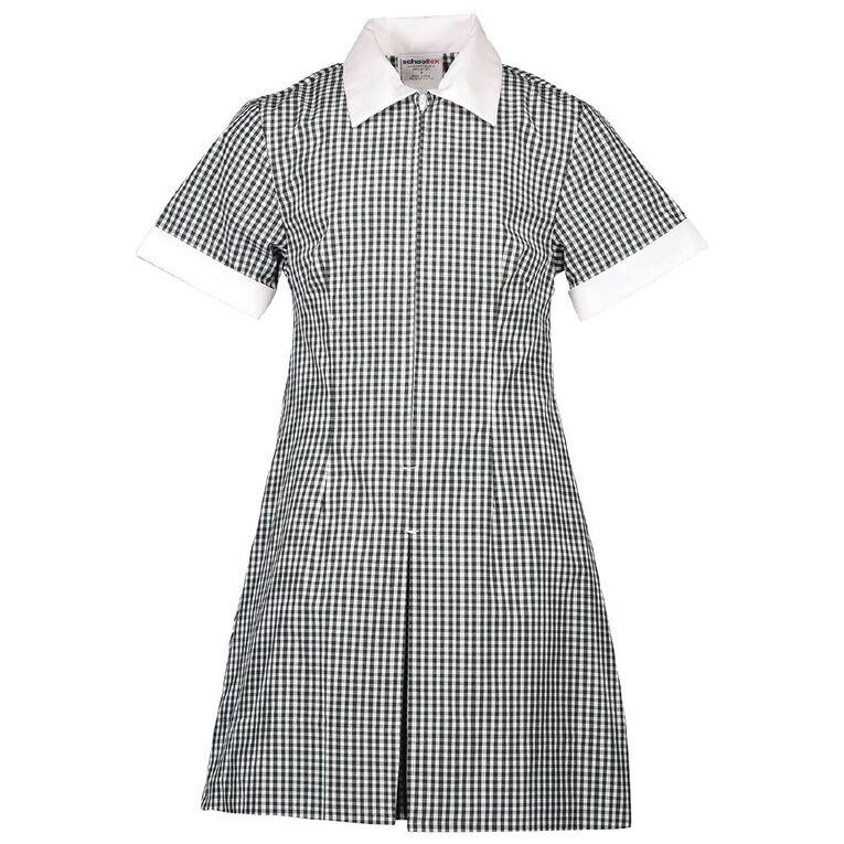 Schooltex Zip Gingham School Dress, Bottle/White, hi-res