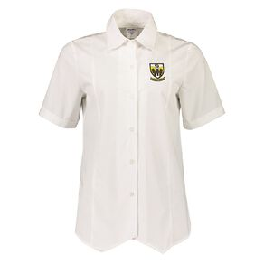 Schooltex Tikipunga High Short Sleeve Blouse with Embroidery