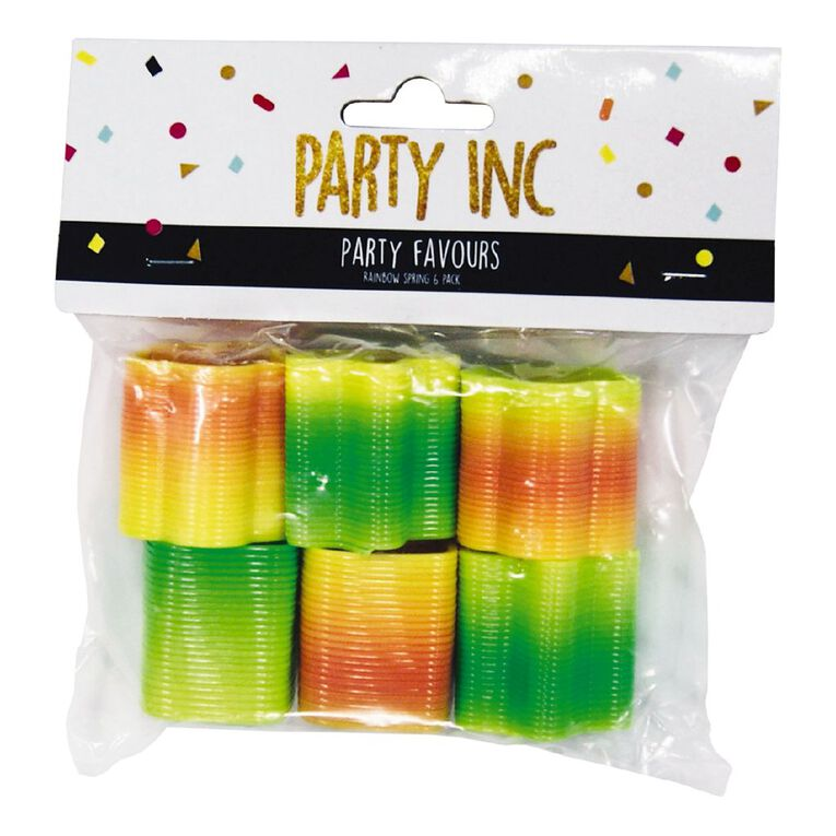 Party Inc Party Favours Rainbow Spring 6 Pack, , hi-res