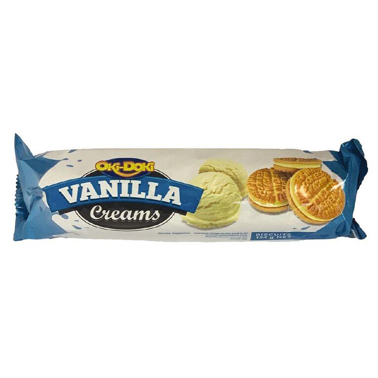 Oki Doki Vanilla Cream Biscuits 154g, , hi-res