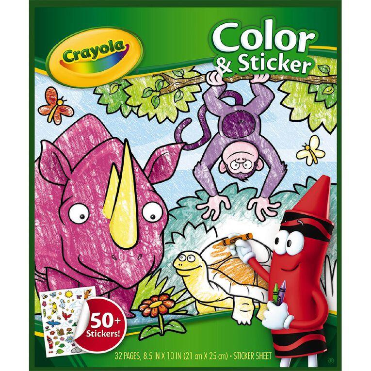 Crayola Color & Sticker Book Animals, , hi-res