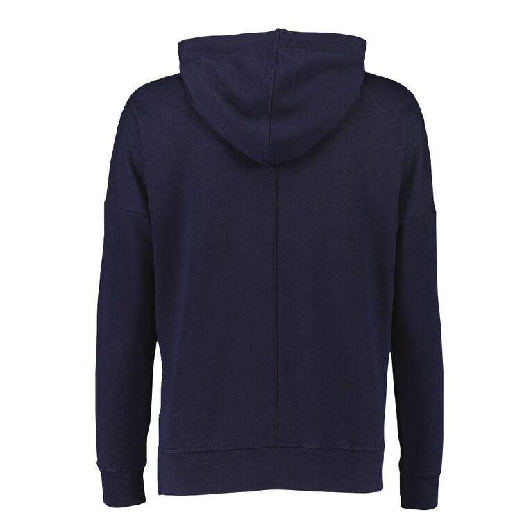 Active Intent Women's Drop Sleeve Hoodie Sweatshirt, Midnight/Navy, hi-res