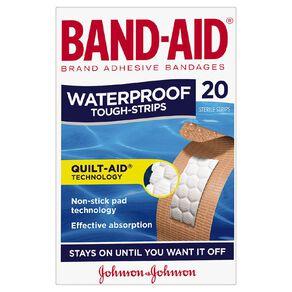 Band Aid Tough Strip Waterproof 20 Pack