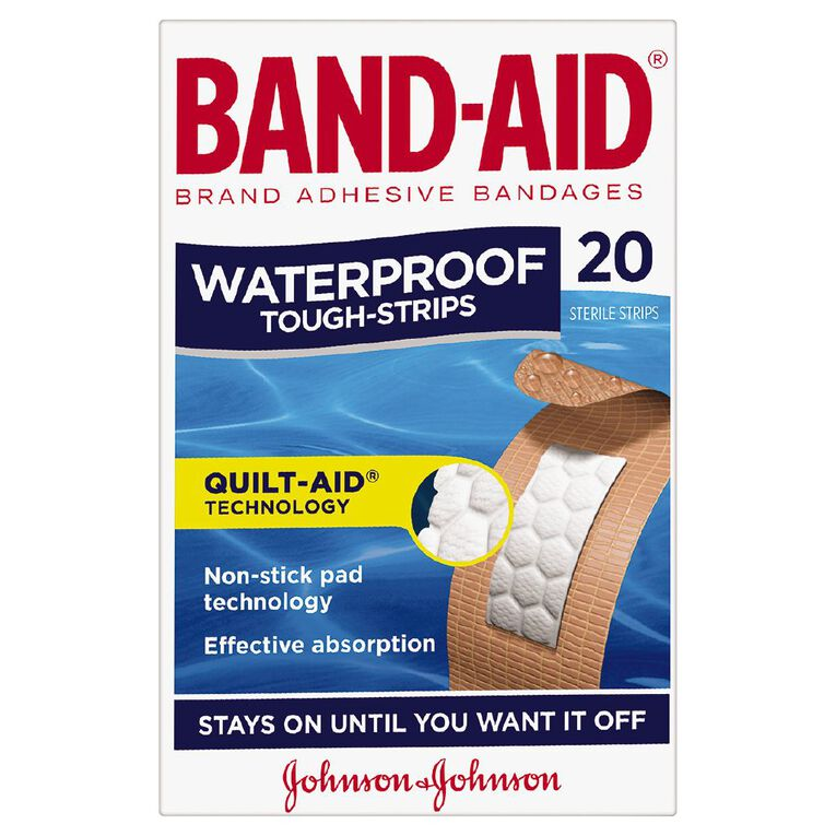 Band Aid Tough Strip Waterproof 20 Pack, , hi-res
