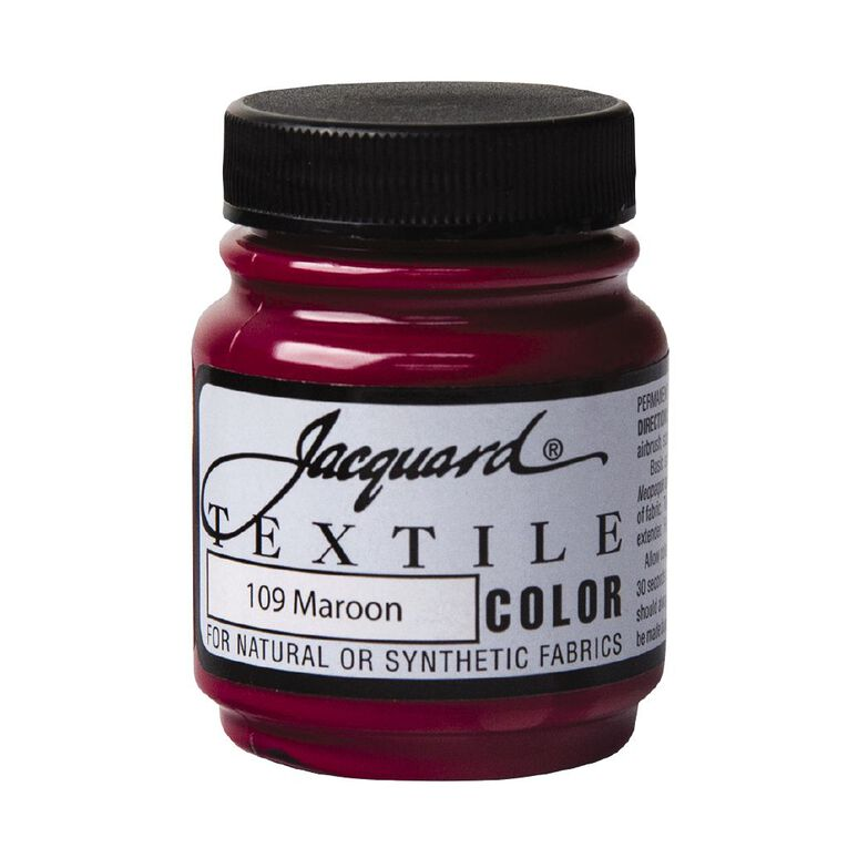Jacquard Textile Colours 66.54ml Maroon, , hi-res