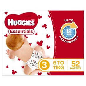Huggies Essential Nappy Crawler 52 pack