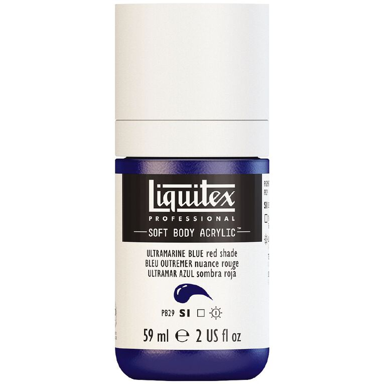 Liquitex Soft Body Acrylic 59ml Ultra Blue Red Shade S1, , hi-res