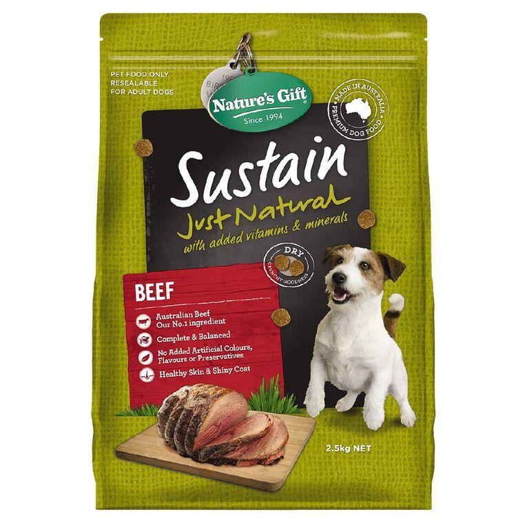 Nature's Gift Sustain Beef Dog Food 2.5kg, , hi-res