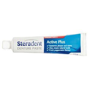 Steradent Active Plus Denture Paste 115g