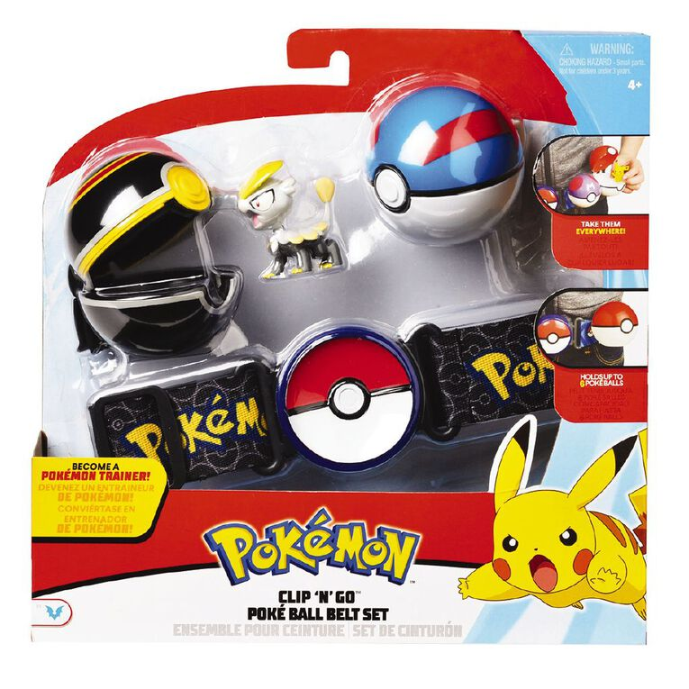 Pokemon Clip n Go Pokeball Belt Set Assorted, , hi-res